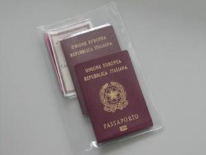 Busta portadocumenti, porta passaporto e carta d'identità per alberghi, campeggi e villaggi