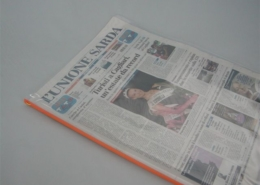 Newpaper cover in hf welded PVC