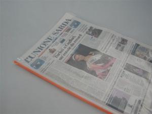 Copertina porta giornale /coprigiornale / salvagiornale in PVC saldato ad alta frequenza