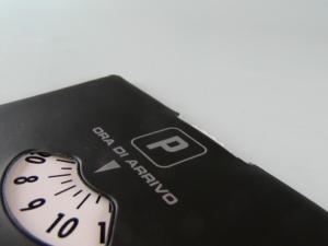 Disco orario personalizzabile in PVC elettrosaldato