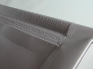 Porta targa prova in PVC spalmato elettrosaldato