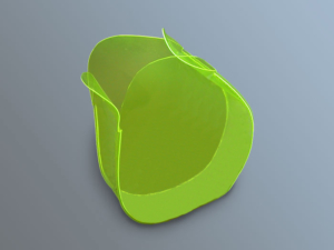 Vaso, contenitore, oggetto di design in PVC fustellato ed elettrosaldato