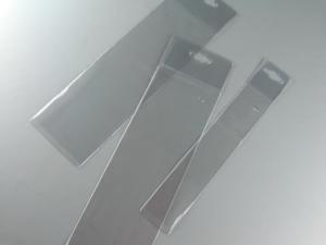 Buste con appendino in PVC saldato HF per confezionamento e esposizione
