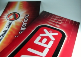 Cartelli pubblicitari serigrafati su PVC rigido espanso
