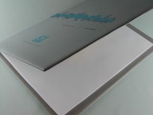 Cartellina porta blocco in PVC cartonato personalizzato