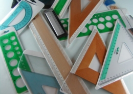 PVC bags with hanger for squares, rulers, curvilinears, goniometers, scale meters