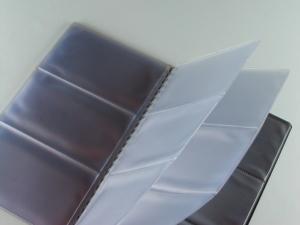 Fascicoli porta cards o cd in PVC elettrosaldato per inserimento in agende e organizer
