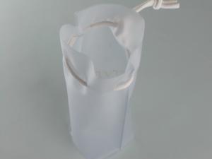 Busta tridimensionale in PVC elettrosaldato con coulisse