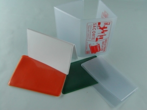 Porta cards e porta badge in PVC saldato ad alta frequenza/portabadge con Velcro