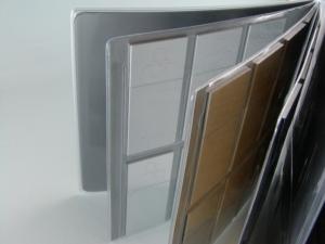 Porta campioni con tasche in PVC saldato ad alta frequenza