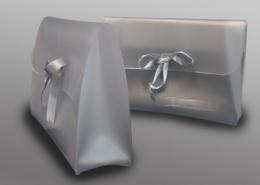 Pochette in hf welded PVC for underwear and beachwear