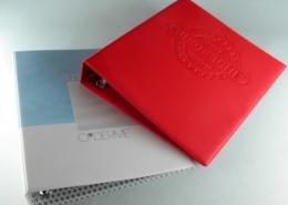 Ring binders in hardcover PVC